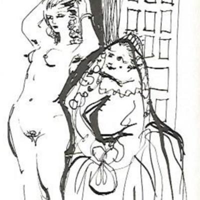 Lámina de La Celestina, de Pradal (1687)