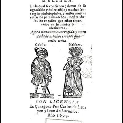 Cover of the Zaragoza edition, 1607.