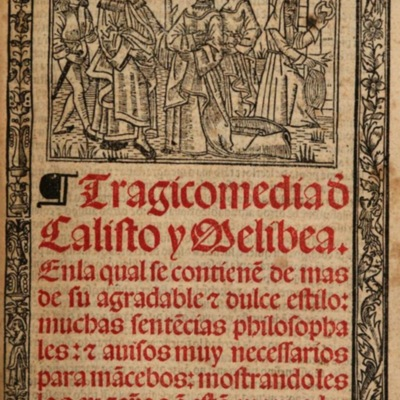 Illustration of the cover page in the Burgos edition (1531)