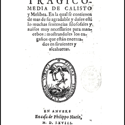 Cover of the Antwerp edition, 1568.