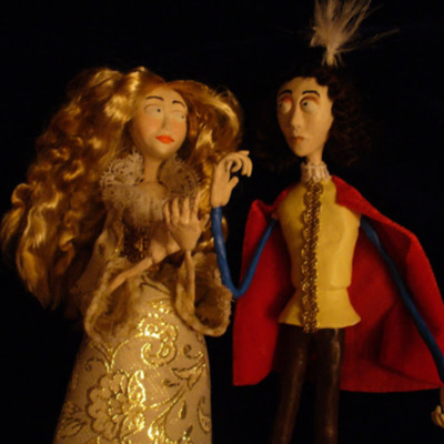 Dolls of Calisto, Melibea, and Celestina, by Jaume Arlandy (2011 and 2016)