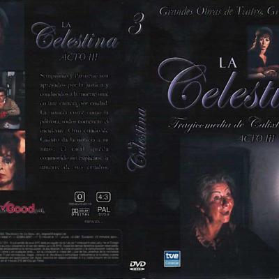 DVD case of act III of La Celestina, by Guerrero.