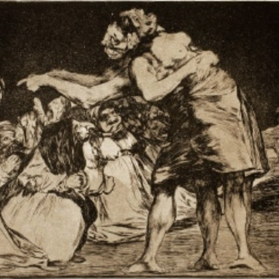 Disparate matrimonial, de Goya (1815)