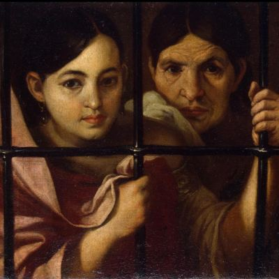 Celestina and her daughter in prison, by Murillo (Attributed, 1645, c.)