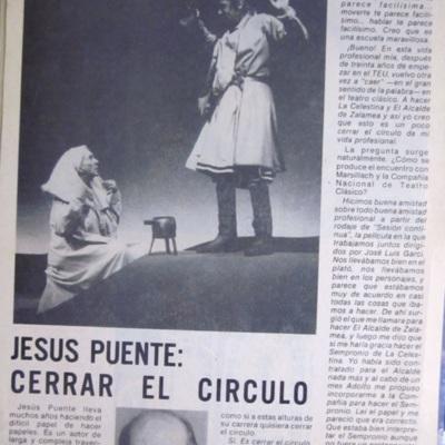 Representación del festival de Almagro, 1988.