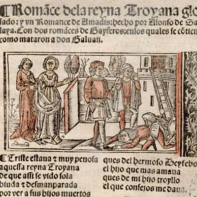 Romance of the  Queen of Troy,  with a gloss (1530 c.)