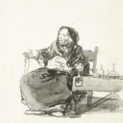 Mother Celestina, by Goya (1819, c.)