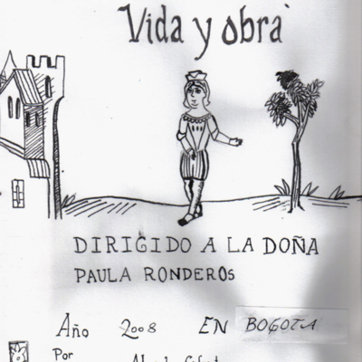 Pármeno, life and work (Pármeno, vida y obra), cover drawing, various artists (2008)