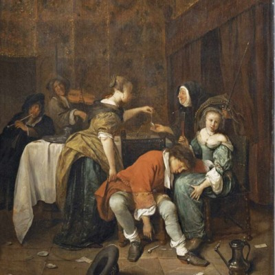 Robo en un burdel, de Jan Steen (1665)