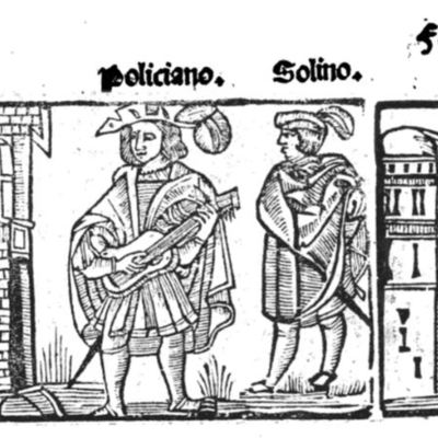 Illustration from Tragedia Policiana, by Sebastián Fernández and anonymous illustrator, 1547