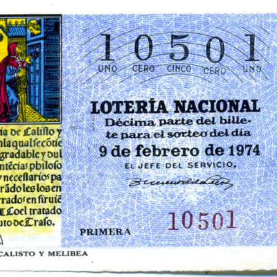 Spanish National Lottery Ticket (1974)