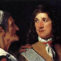 Young Man and Matchmaker (Hombre joven y alcahueta), by Sweerts (1660 c.).