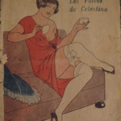 Celestina's Powder (Los polvos de Celestina), cover of an issue of La novela galante (1925 c.)