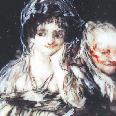 Maja and Celestina, by Goya(1824, c.)