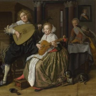 Un joven y una mujer que hacen música, de Molenaer (1630)