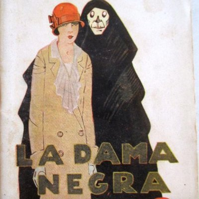 The Black Lady (La dama negra), cover of the La novela de hoy edition (1925)