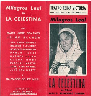 Representación del Teatro Reina Victoria, Madrid, 1967.