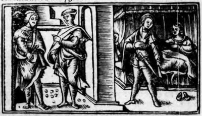 Illustration of act VIII from the Zaragoza edition (1545)