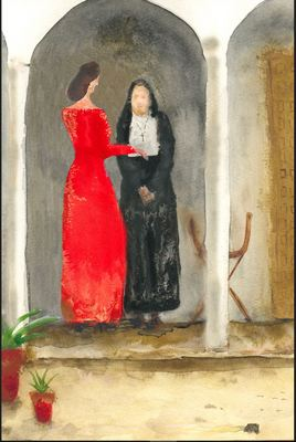 Celestina and Melibea, by Acedo (2008 c.)