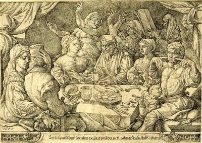 Print made by Cornelisz (1545)