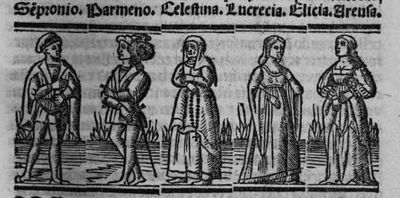 Engraving from act IX from the Seville edition (1523)