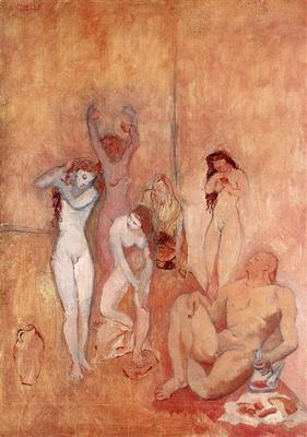 The Harem, by Picasso (1906)