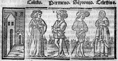 Engraving from act V from the Seville edition (1523)