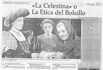 Representación de Santiago de Chile, 1992.