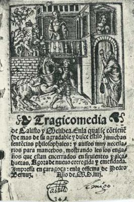 Cover of the Zaragoza edition, 1554