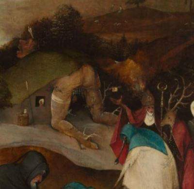 Detail of Temptation of Saint Anthony, by Bosch (1501)