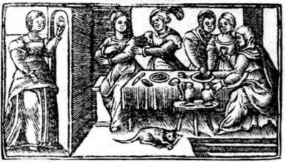 Illustration of act IX from the Zaragoza edition (1545)
