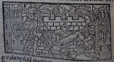 Illustration of act 21 of Medina del Campo, 1530<br /> <br />
