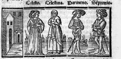 Engraving from act VI from the Seville edition (1523)