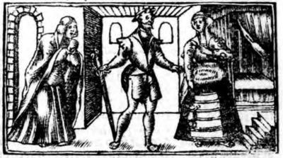 Illustration of act XV from the Zaragoza edition (1545)