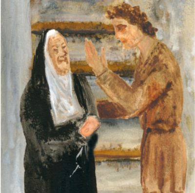 Celestina and Pármeno, by Acedo (2008 c.)