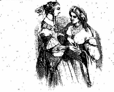 Zubayda y la mujer vieja, de MM. Français y H. Baron (1827 c.)