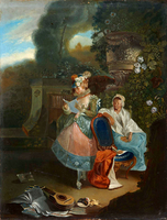 The Letter (La carta), by Paret y Alcázar (1772).