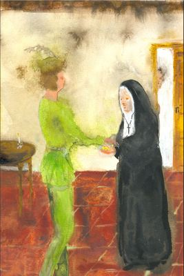 Gifting of a Gold Chain, by Acedo (2008 c.)