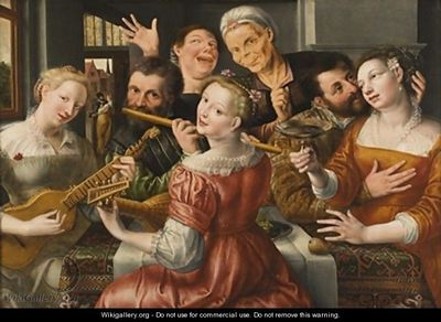 Alegre reunion, de Massys (1560, c.)