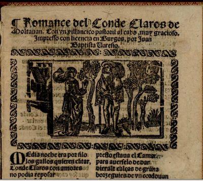 Romance del conde Claros, by Varesio (1593, c.)