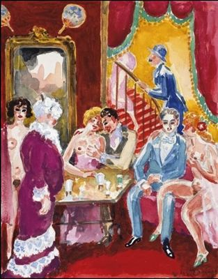 The narrator and Albert Bloch in the brothel, by van Dongen (1930 c.)