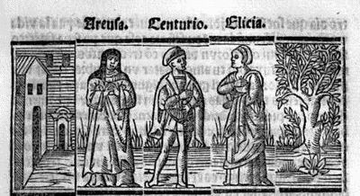 Engraving from act XVIII from the Seville edition (1523)