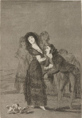 Which of them is the most overcome? de Goya, 1799