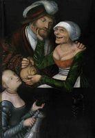 The Matchmaker (La alcahueta), by Cranach (1548).