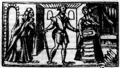 Illustration of act XVIII from the Zaragoza edition (1545)