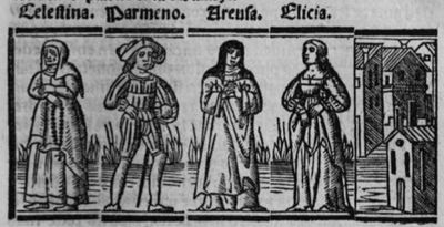 Engraving from act VII from the Seville edition (1523)