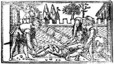 Second illustration of act XIX from the Zaragoza edition (1545)