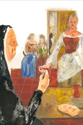 Melibea offers the Celestina a string, by Acedo (2008 c.)