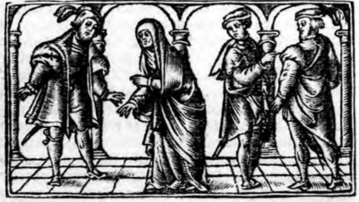 Illustration of act VI from the Zaragoza edition (1545)