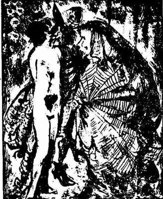 Litografía inspirada en La Celestina, de Vlady (1953)
